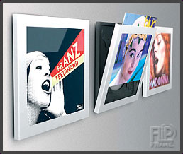 De nieuwe Witte Art Vinyl Play and Display Frames